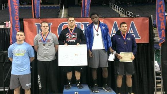 North Buncombe senior Mikhail Simonovich was a state champion at last year's NCHSAA 3-A wrestling tournament.