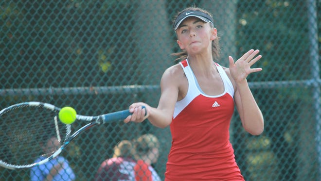 Freshman Sabrina Chandler of Jackson Memorial earned an Ocean County Tournament third singles championship on Sunday.