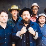 Nathaniel Rateliff, center, and the Night Sweats are climbing the Alternative and AAA airplay charts with 'S.O.B.'