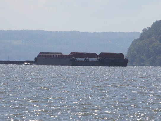 A badge anchored in the Hudson River at Haverstraw