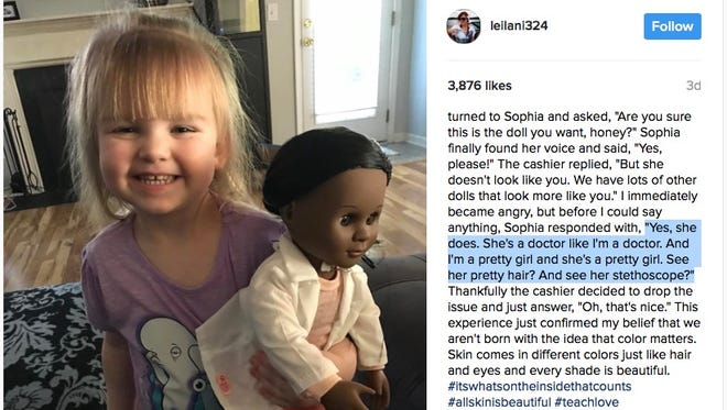 Brandi Benner shared this photo of her daughter and her new doll on Instagram last week.