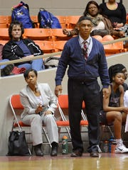 James Shaw coaches basketball at Liberty High in this file photo.
