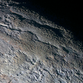 A high-resolution image of the surface of Pluto.
