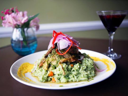An entree of arroz con pollo from the now-closed RUNA