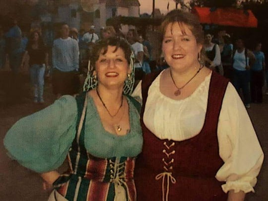 Kerstin Byorni Manley dressing up at the Renaissance Fair with friend Kimberley Parker.