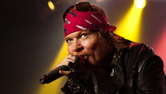Axl Rose of Guns N' Roses performs in The Joint at the Hard Rock Hotel & Casino in Las Vegas during the band's 2012 residency.