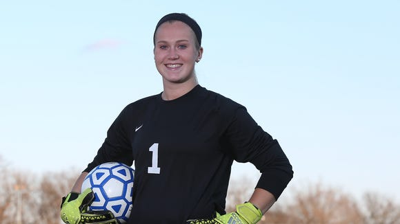 Lauren Gallagher, Pearl River High School girls soccer goalie voted as the Rockland girls soccer player of the year, photographed on Friday, Dec. 4, 2015.