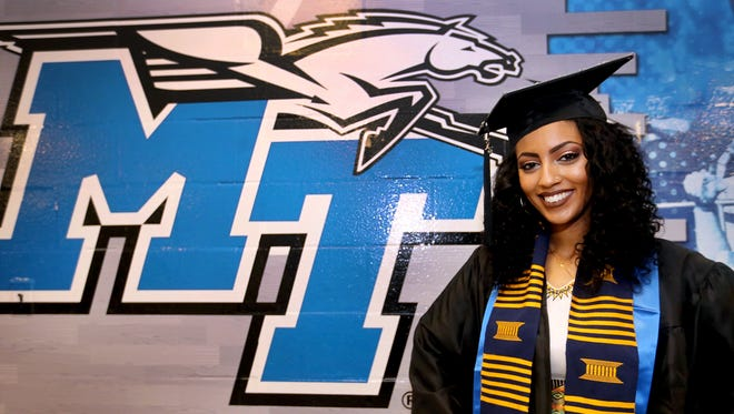 """Bezawir """"Beza"""" Ararsa is an MTSU graduate who received a bachelor's degree in speech pathology and audiology on Saturday, Aug. 6, 2016."""