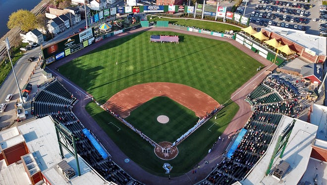 PeoplesBank Park, home of the York Revolution, is shown before the 2018 home opener for the Atlantic League team. The Revs' 2020 season was slated to start Thursday, while the team's home opener was set for May 8. Those games will not be played as scheduled because of the COVID-19 pandemic. It is uncertain, when, or if, the 2020 Atlantic League season will be held. YORK DISPATCH FILE PHOTO
