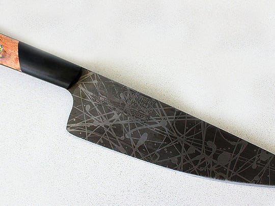 Custom-made carbon steel chef's knife from Peter Salerno Inc. in Wyckoff.