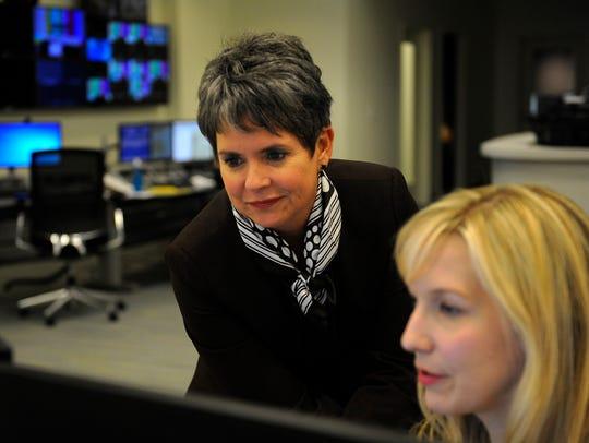WSMV-Channel 4 news anchor Demetria Kalodimos works