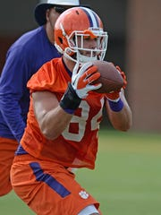 Clemson tight end Cannon Smith (84) during practice Wednesday, August 5, 2015.