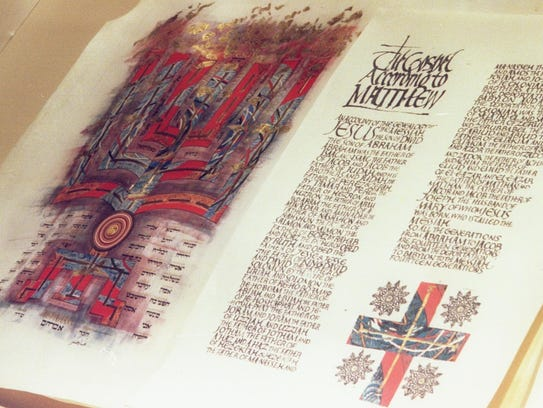 St. John's Bible books are among the items available