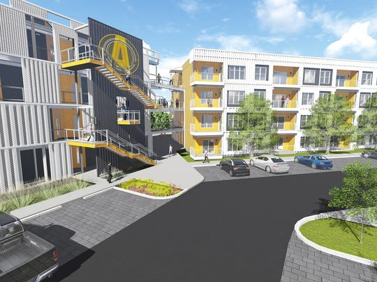 Elsewhere off Nolensville Pike, Core Development has obtained a grading permit to start work on its 82-unit Alloy condo development shown here.