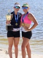 Gracie Leon and Mari Grimaldi each won gold in girls