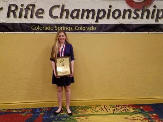 Taylor Gibson won the Junior Air Rifle Championship.