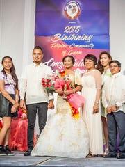 Ashley Clark Dancel, center, was crowned Binibining