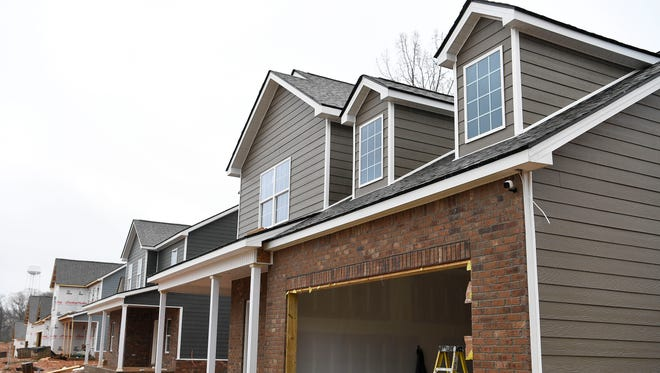 Houses are being built for a new rental subdivision, Fairview Station, in Fairview, Tenn. The subdivision will have 25 homes.