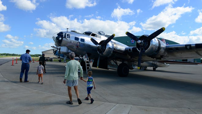 The Yankee Lady, a WWII-era B-17G bomber, was open for tours and flights on Saturday at the Liberty Aviation Museum in Port Clinton. The plane takes about 1,200 passengers a year on flights that offer a trip back in time.