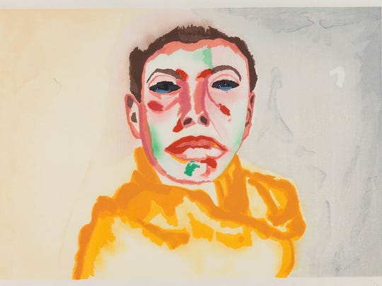"Francesco Clemente's 1982 color woodcut print is part of the Des Moines Art Center show ""Selfies: Self-Portraits from the Permanent Collection."""