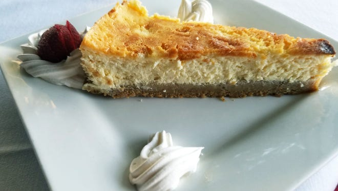 Josephine's Cafe & Bistro's Italian cheesecake with a subtle sweetness and a faint essence of lemon.