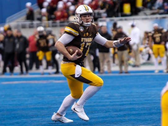 Wyoming Cowboys quarterback Josh Allen is a popular