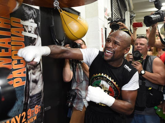 BESTPIX - Floyd Mayweather Jr. Media Workout