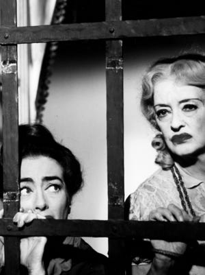 Joan Crawford, left, and Bette Davis played sisters in 1962's 'What Ever Happened to Baby Jane?'