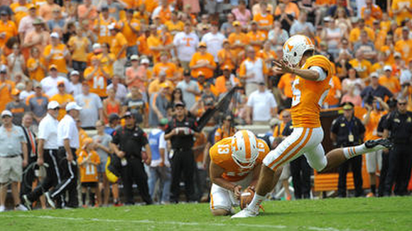 Tennessee kicker Aaron Medley is off to a lackluster start on field-goal attempts.