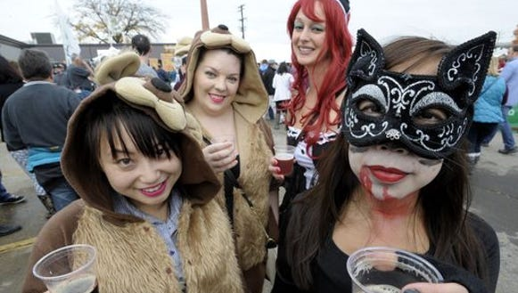 Costumes are part of the fun at the Michigan Brewers
