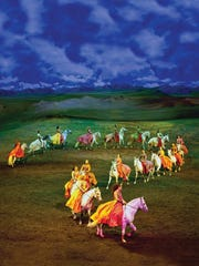 """""""Odysseo"""" stars 65 horses along with 50 riders, aerialists,"""
