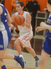 Sophomore guard Jenna Mazzone has been among the players who have stepped up to help Dumont overcome the loss of two of its top players to achieve a division title and winning season.