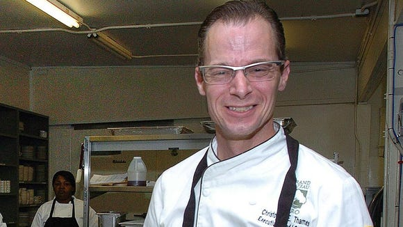 This Advertiser file photo shows Chef Christopher Thames in the kitchen of Grand Coteau Bistro. The restaurant recently closed.