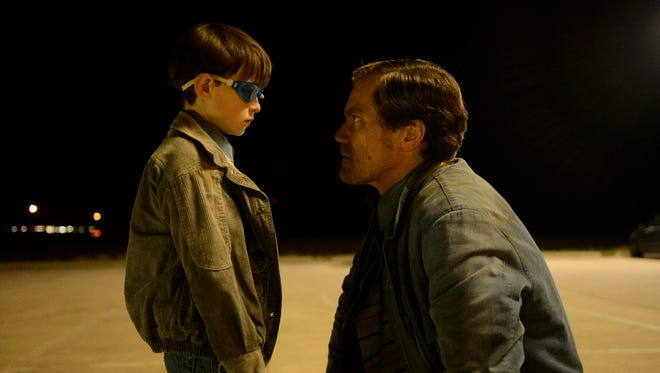 """Jaeden Lieberher and Michael Shannonn in a scene from """"Midnight Special."""""""