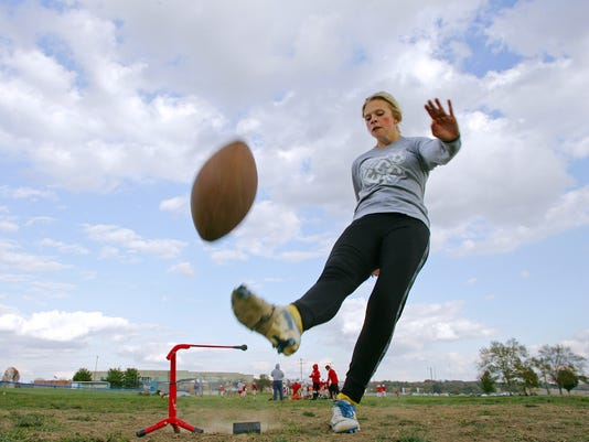 Rylea Amspaugh and John Hoffman are soccer players who have been sharing the kicking duties for Lakewood.