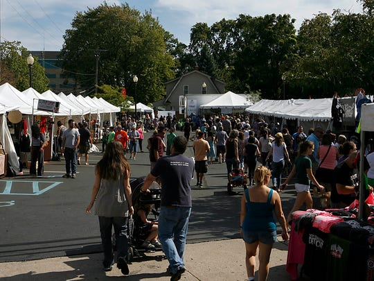 Dozens of visitors gather at DIY Street Fair in Ferndale