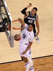 Duke center Jahlil Okafor finished with 18 points and