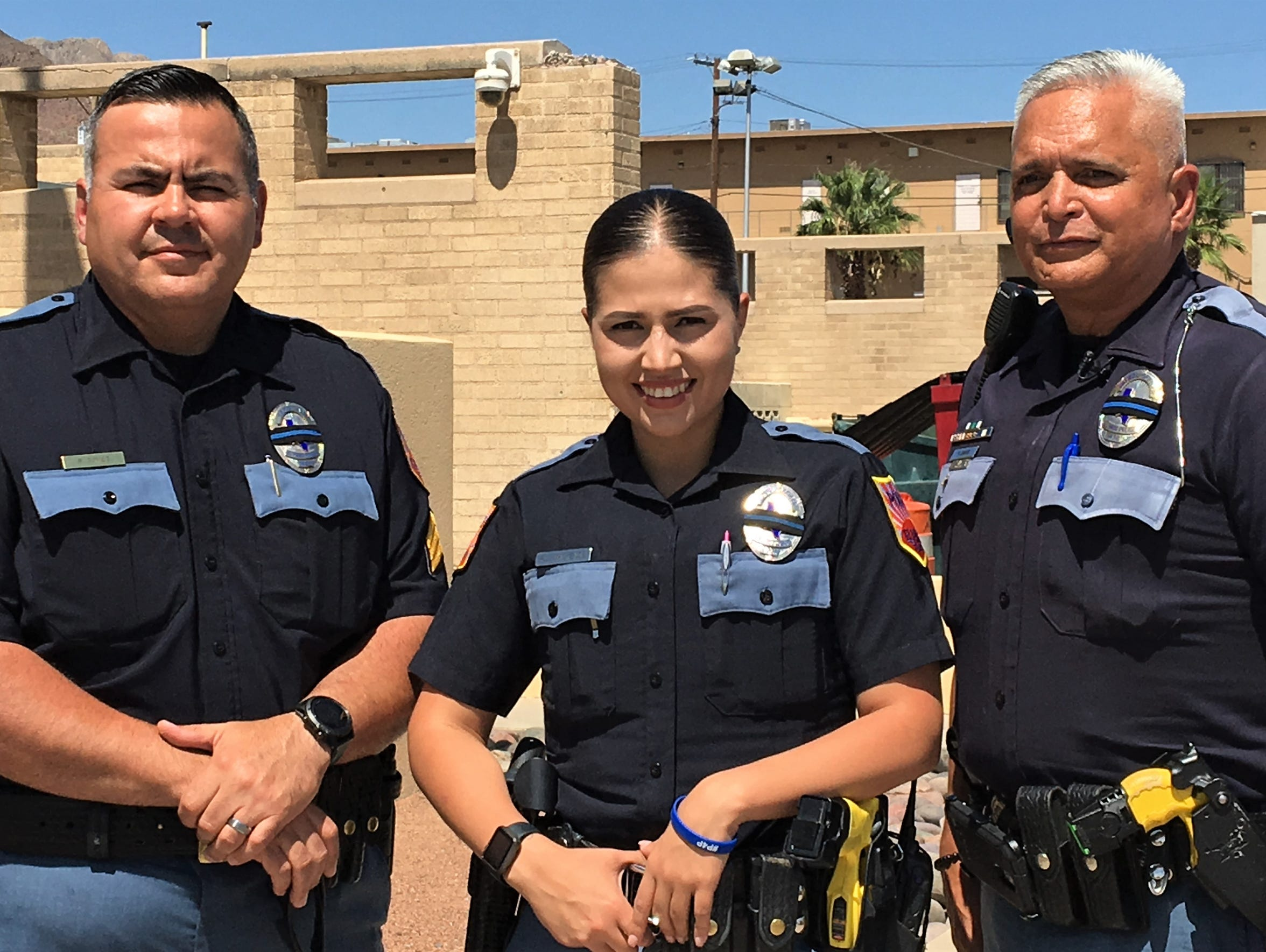Sgt. Robert Gomez, Officer Patricia Mackenzie and Officer