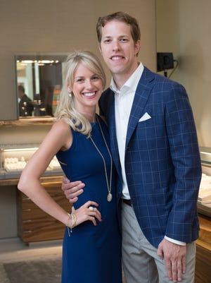 Brad Keseloski and girlfriend Paige White celebrate the launch of the Mens Frontier Collection at a David Yurman boutique jewelry store in Southpark Mall in Charlotte.