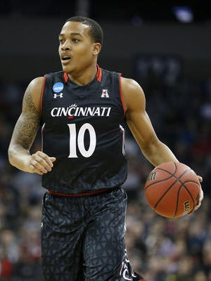 Troy Caupain was voted American Athletic Conference Co-Player of the Year and his Cincinnati team was picked to win the American Athletic Conference on Monday, in Media Day voting announced in Philadelphia.