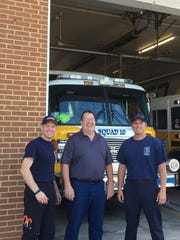 David Mace, firefighter and EMT, Terry Kelley, station
