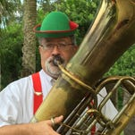 Space Coast Symphony president and tuba player Eric Lee dons the lederhosen for the Oktoberfest party Oct. 9 at River House, Cocoa Village.