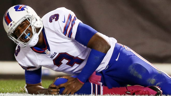 Bills QB EJ Manuel hasn't played since injuring his right knee Oct. 3 in Cleveland.