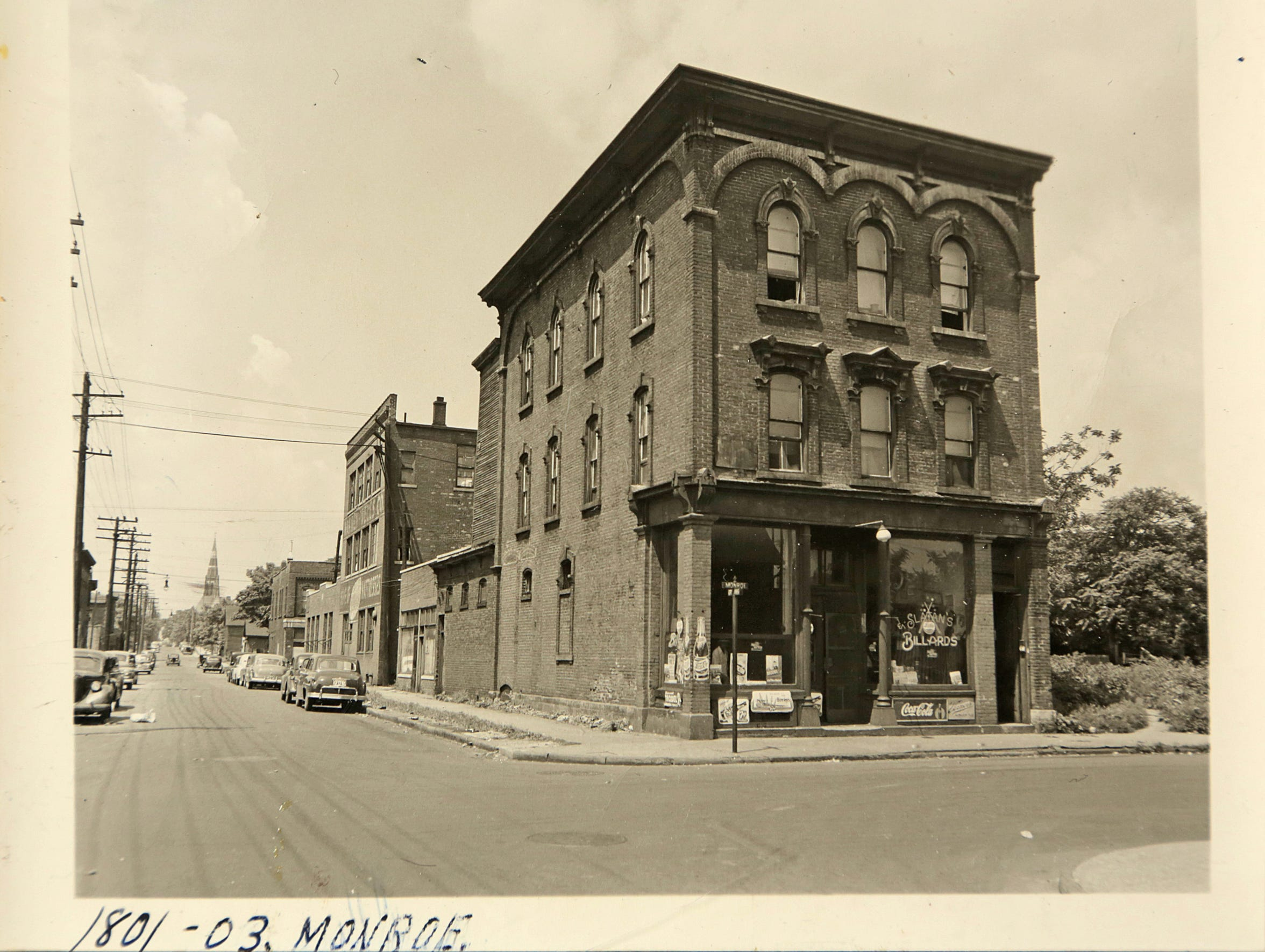 This is a historical photo of Black Bottom before it