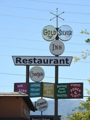 The iconic Gold 'N Silver Inn sign has changed relatively little since the restaurant's 1956 debut.