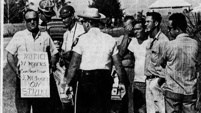 Almost half of the employees from the Fort Myers Construction Company, the construction division of the GALC, went on strike in October of 1967.