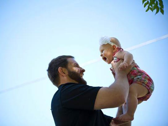 Jeffrey Roof with his daughter Samantha.