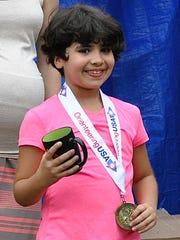 Eight-year-old Nicole Aleksieva of Virginia won her