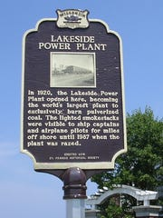 Lakeside Power Plant is getting recognized with a state