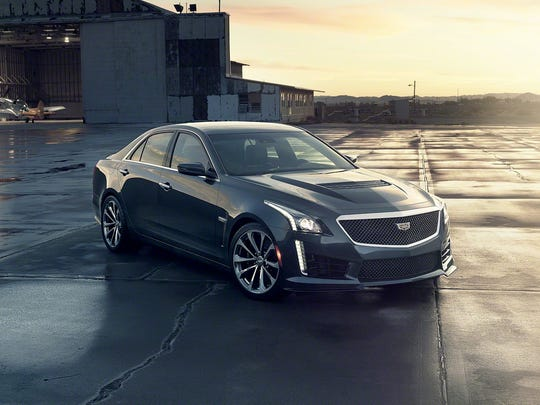 The all-new 2016 Cadillac CTS-V luxury performance sedan has a top speed of 201 m.p.h. from its supercharged 6.2L V-8 640 hp engine and 630 lb-ft of torque.